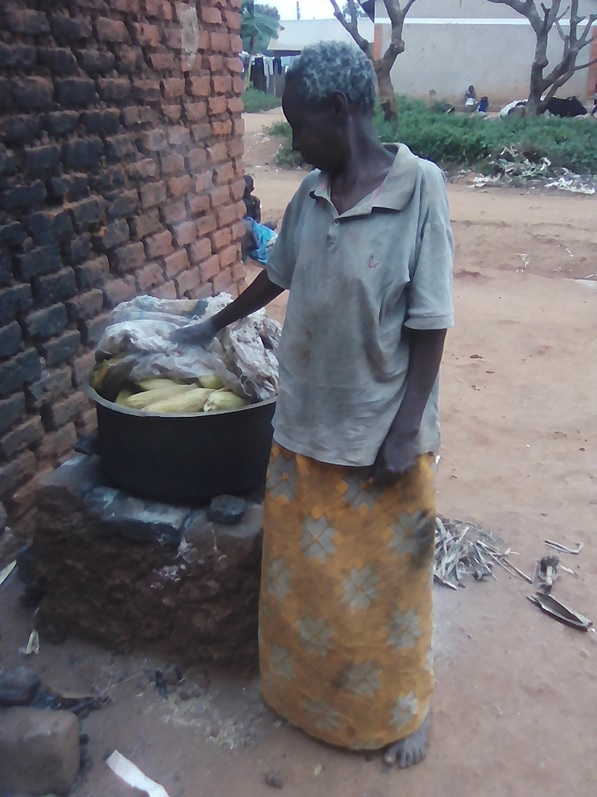 Respondent checking if Maize is ready