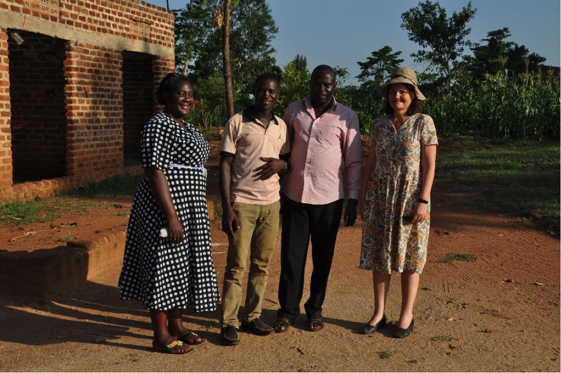 Supervisor Justine Kutaira, Researcher Antony and MD Anne Marie posing with Mr. Sulaiman, Local Council 3 of Mpungwe sub-county