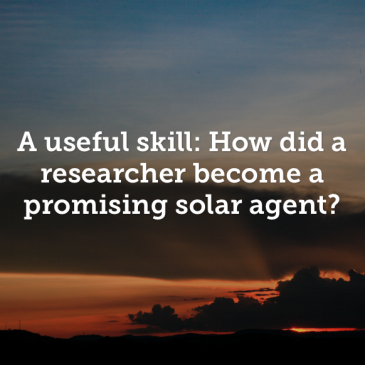 A usefull skill: how did a researcher become a promising solar agent?