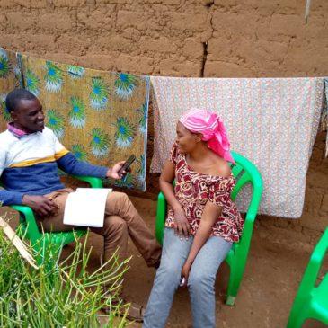 One of L-IFT's Field Researchers in Nakivale Refugee Settlement: Mibaraka Kamana
